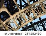 Eiffel Tower Detail In Paris ...
