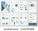 modern business brochures and... | Shutterstock .eps vector #254259388