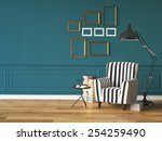 living room with an armchair ... | Shutterstock . vector #254259490