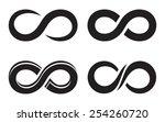 infinity icons   Shutterstock .eps vector #254260720