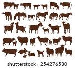 farm animals. set of vector... | Shutterstock .eps vector #254276530