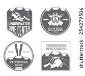 premium vector label for scuba... | Shutterstock .eps vector #254279506