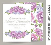 wedding invitation card with... | Shutterstock .eps vector #254283328