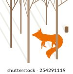 vector illustration with red... | Shutterstock .eps vector #254291119