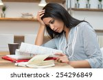 african student concentrated to ...   Shutterstock . vector #254296849