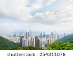 hong kong city view from the... | Shutterstock . vector #254311078