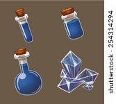 potion and crystal  game user...