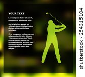 golf flyer template with golfer ...   Shutterstock .eps vector #254315104