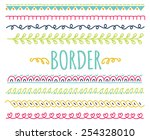 set of colorful hand drawn... | Shutterstock .eps vector #254328010