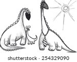 dinosaur family dad mom and... | Shutterstock .eps vector #254329090