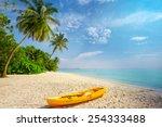 Kayak On Sunny Tropical Beach...