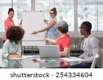 fashion student giving a... | Shutterstock . vector #254334604