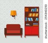 vector set  furniture home.... | Shutterstock .eps vector #254340250