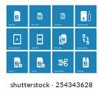 sim cards icons on blue... | Shutterstock .eps vector #254343628