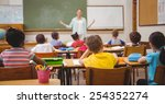 pupils listening to their... | Shutterstock . vector #254352274