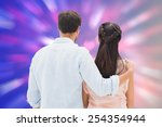 attractive young couple... | Shutterstock . vector #254354944