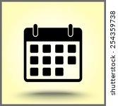 calendar sign icon  vector... | Shutterstock .eps vector #254359738