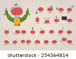 brain character set | Shutterstock .eps vector #254364814