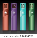 colorful modern text box... | Shutterstock .eps vector #254368096