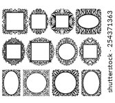 set of black round and square... | Shutterstock .eps vector #254371363
