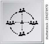 group of people icon | Shutterstock .eps vector #254373970