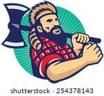 illustration of lumberjack... | Shutterstock . vector #254378143