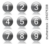numbers counting black vector... | Shutterstock .eps vector #254379208