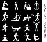 people fitness icons | Shutterstock .eps vector #254379799