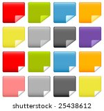 modern web icons with bent... | Shutterstock . vector #25438612
