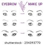 hand drawn illustration of... | Shutterstock .eps vector #254393770