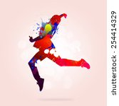 image with color silhouette of... | Shutterstock . vector #254414329