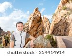 young tourist on the road  les...   Shutterstock . vector #254414914