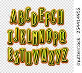 creative high detail font. the... | Shutterstock .eps vector #254414953