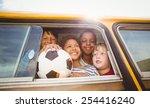 cute pupils smiling at camera... | Shutterstock . vector #254416240