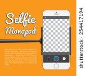selfie monopod  self portrait...   Shutterstock .eps vector #254417194