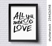simple text design for all you... | Shutterstock .eps vector #254426548