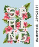 typographic design  spring... | Shutterstock .eps vector #254429554