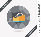 adhesive tape flat icon with... | Shutterstock .eps vector #254440249