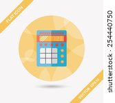 calculator flat icon with long... | Shutterstock .eps vector #254440750