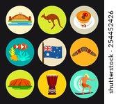 australia icon set | Shutterstock .eps vector #254452426