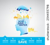 save the water life | Shutterstock .eps vector #254455798