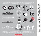 wedding signs in vector | Shutterstock .eps vector #254463613