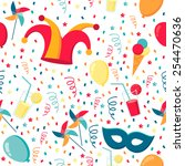 background with confetti ... | Shutterstock .eps vector #254470636