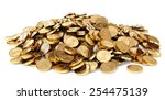 Heap Of Gold Coins. Isolated O...