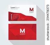 m letter logo abstract... | Shutterstock .eps vector #254478373