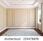 interior of empty room. 3d... | Shutterstock . vector #254478898