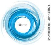 abstract swirl background.... | Shutterstock .eps vector #254485876