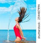sunlight around me hair splash  | Shutterstock . vector #254487994