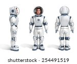 astronaut 3d illustration | Shutterstock . vector #254491519