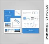 modern flat infographics flyer  ... | Shutterstock .eps vector #254499229